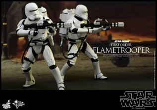 Hot Toys Star Wars Force Awakens First Order Flametrooper - army pic