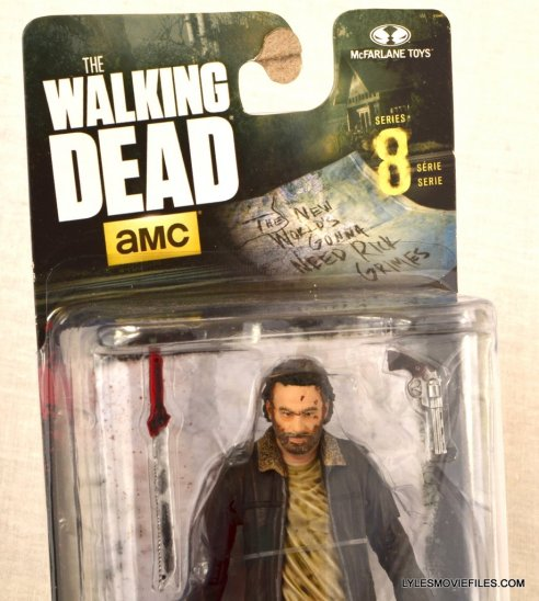 McFarlane Toys Walking Dead Rick Grimes Series 8 - front package closeup