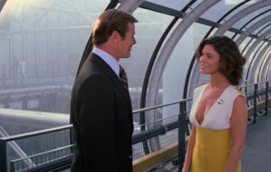 Moonraker - Roger Moore and Corinne Clery