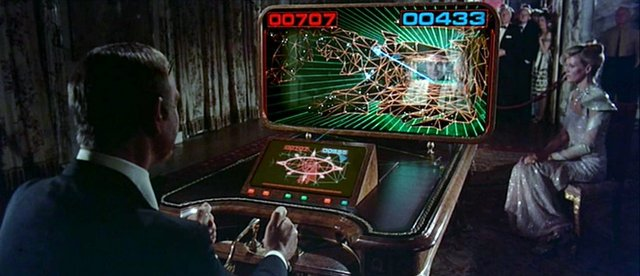 Never Say Never Again - Bond and Largo playing arcade game