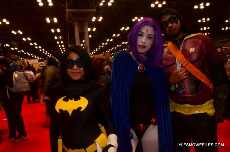 New York Comic Con 2015 cosplay - Batgirl, Raven and Robin