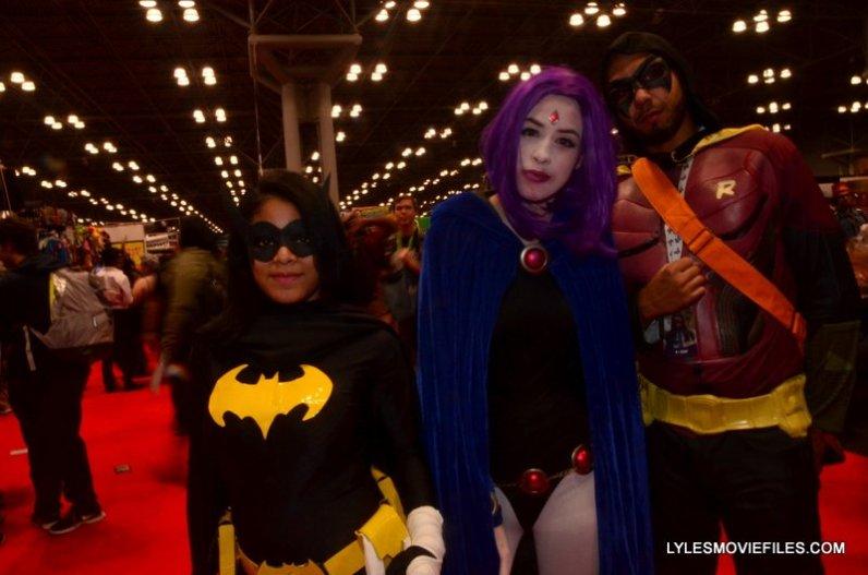 New York Comic Con 2015 cosplay - Batgirl, Raven and Robin
