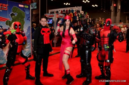 New York Comic Con 2015 cosplay -Deadpools, Punisher, Eleketra and Agent Venom