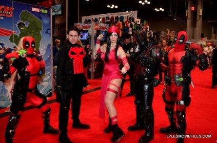 New York Comic Con 2015 cosplay -Deadpools, Punisher, Eleketra and Agent Venom