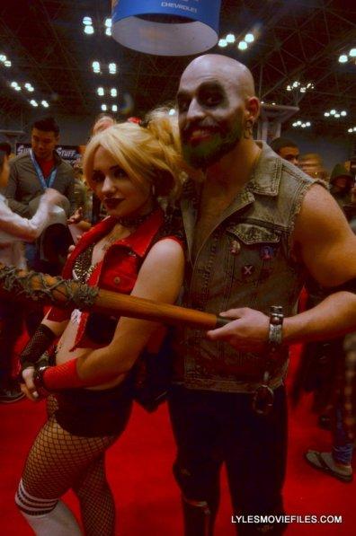 New York Comic Con 2015 cosplay -Harley and Joker bald