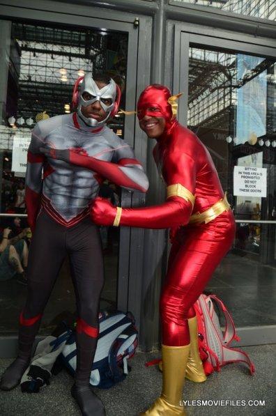New York Comic Con 2015 cosplay - New 52 Kid Flash and Flash