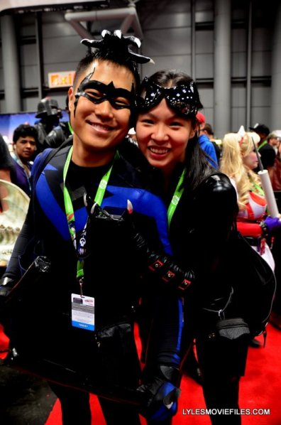 New York Comic Con 2015 cosplay - Nightwing and Catwoman