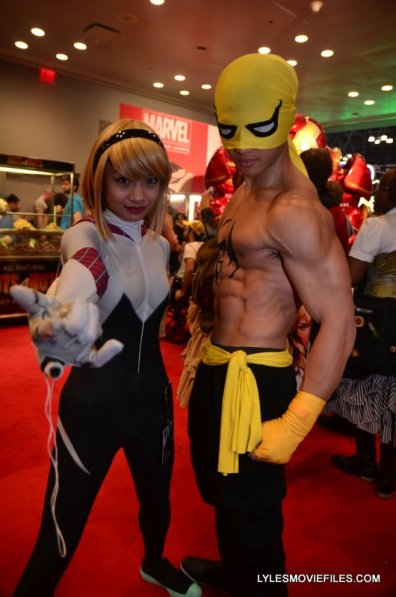 New York Comic Con 2015 cosplay -Spider-Gwen and Iron Fist