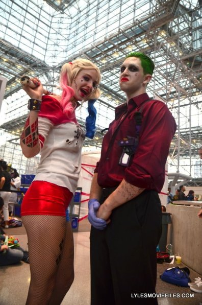 New York Comic Con 2015 cosplay - Suicide Squad Harley Quinn and Joker
