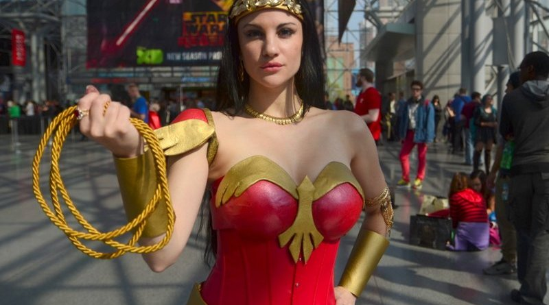 New York Comic Con 2015 cosplay - Wonder Woman cosplay close up