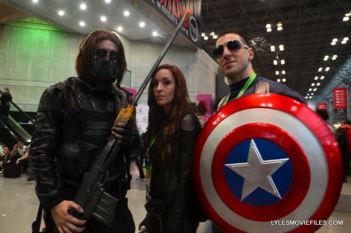 New York Comic Con cosplay - Captain America, The Winter Solider and Black Widow