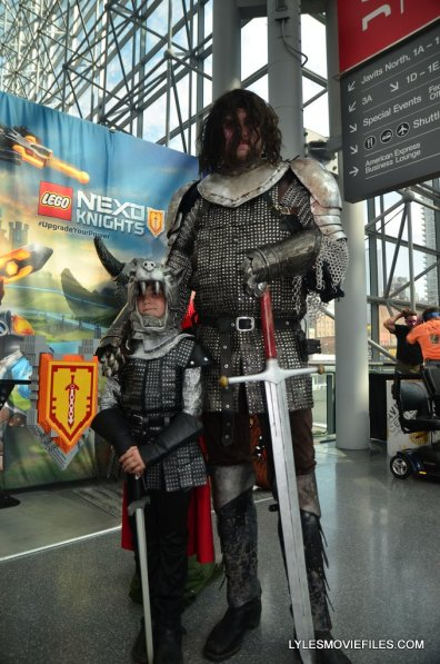 New York Comic Con cosplay - Game of Thrones Mountain and The Hound