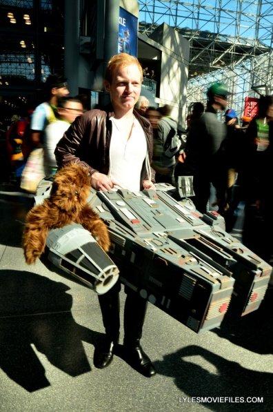 New York Comic Con cosplay - Han Solo with Millennium Falcon
