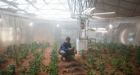 The Martian - Matt Damon as Mark Watney in the garden