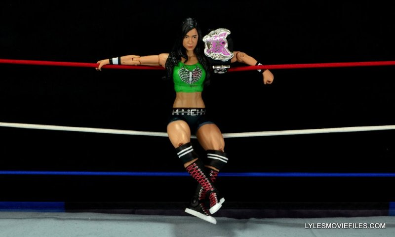 WWE Mattel Basic AJ Lee - sitting on the ropes2