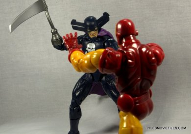Marvel Legends Grim Reaper - facing off with Iron Man