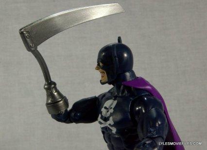 Marvel Legends Grim Reaper - looking at scythe