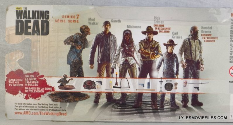 McFarlane Toys Walking Dead Mud Walker - package back