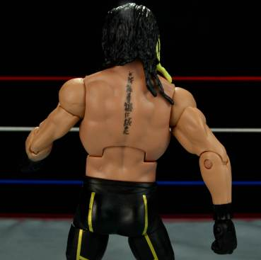 Seth Rollins Mattel exclusive -back detail
