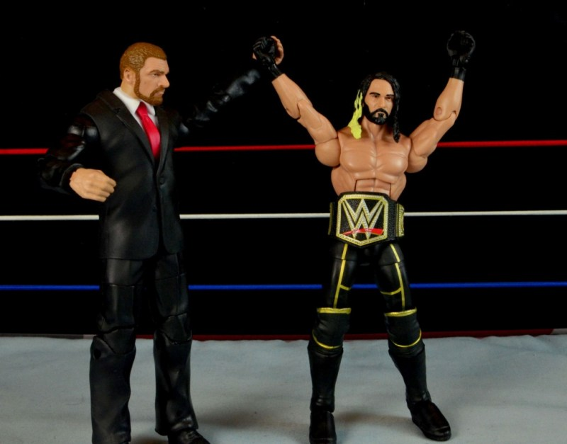 Seth Rollins Mattel exclusive -celebrating with Triple H