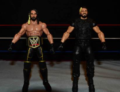Seth Rollins Mattel exclusive -side by side with Elite 25 Rollins