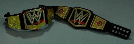 Seth Rollins Mattel exclusive - two WWE title belts