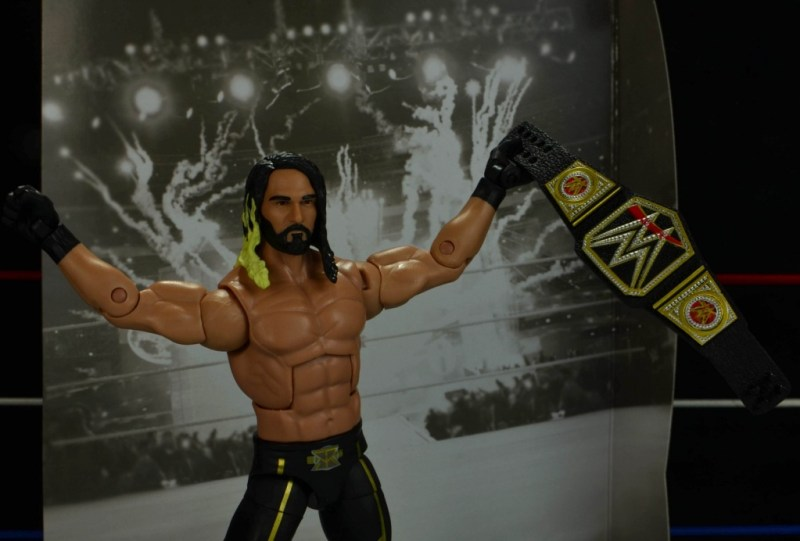 Seth Rollins Mattel exclusive - with backdrop