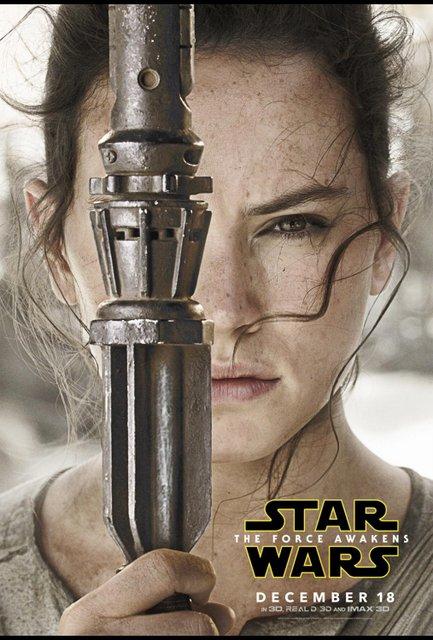 Star Wars Force Awakens poster - Rey