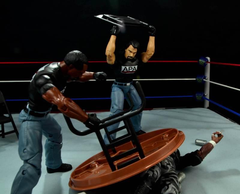 WWE Mattel APA -APA beat down Devon Dudley