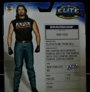 WWE Mattel APA - Bradshaw back package