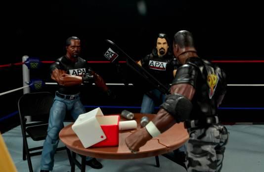 WWE Mattel APA -Devon Dudley comes to APA office
