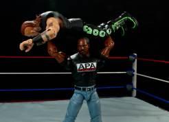 WWE Mattel APA -Faroog press slams Road Dogg