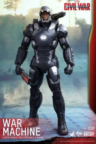 Captain America Civil War War Machine figure2 Hot Toys