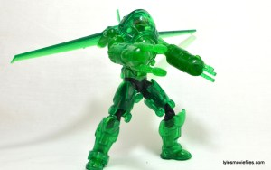 DC Icons Green Lantern figure review -armor construct in action