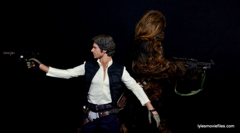 Hot Toys Han Solo and Chewbacca review -back to back