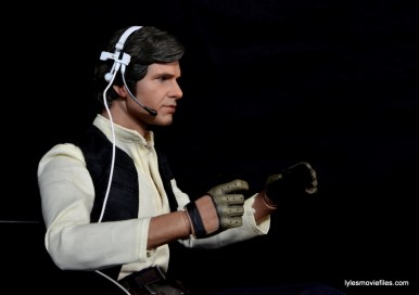 Hot Toys Han Solo and Chewbacca review -Han Solo headset right side