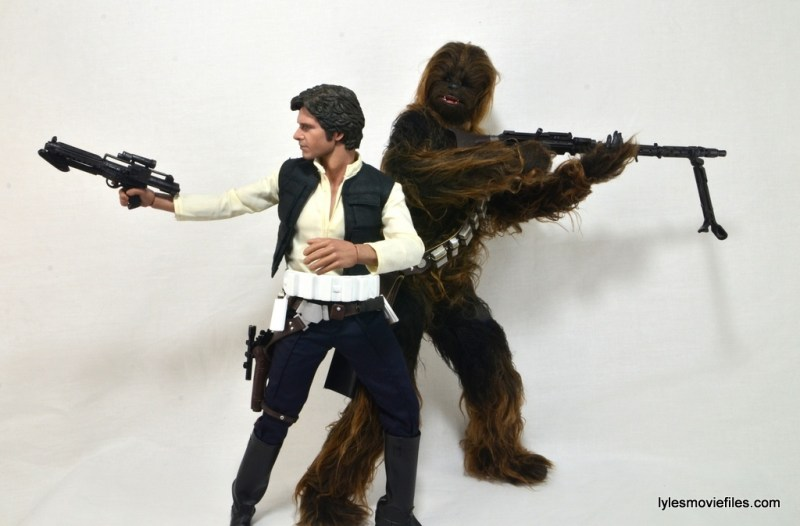 Hot Toys Han Solo and Chewbacca review -with Stormtrooper accessories