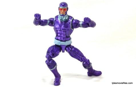 Machine Man Marvel Legends figure review - wide stance
