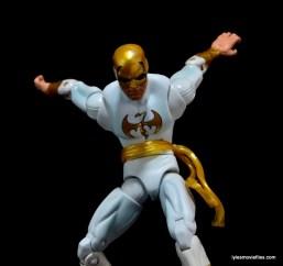 Marvel Legends Iron Fist figure review -diving down