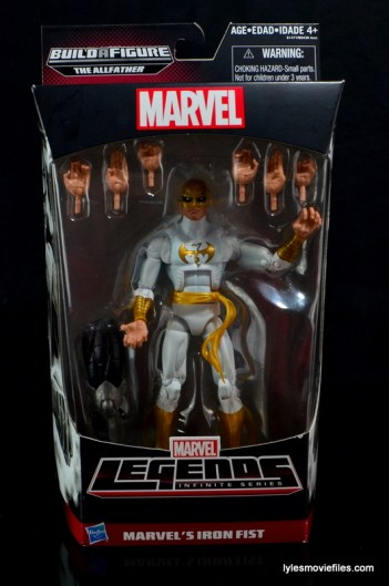 Marvel Legends Iron Fist figure review - front package