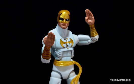Marvel Legends Iron Fist figure review - karate pose