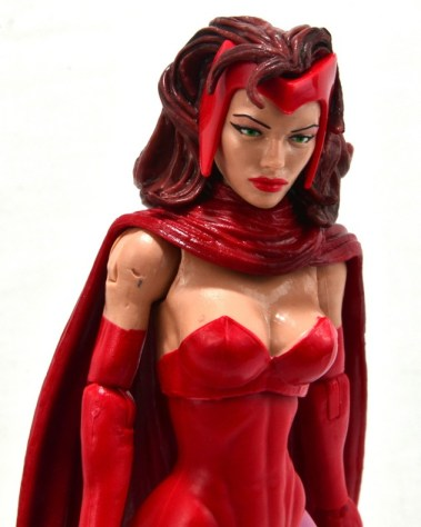 Marvel Legends Scarlet Witch figure review - right perspective