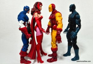 Marvel Legends Scarlet Witch figure review - scale with Captain America, Iron Man and Black Panther