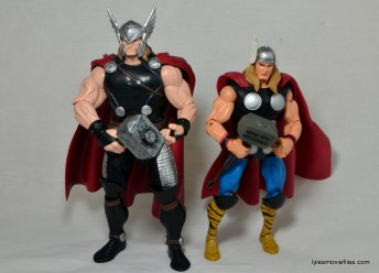 Marvel Legends Thor figure review - Hasbro vs Toy Biz Thor