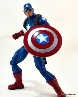 Marvel Legends three-pack Ms. Marvel, Captain America and Radioactive Man -Cap action pose