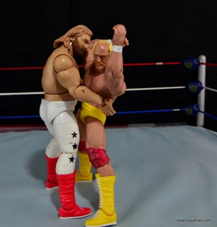Mattel WWE Heenan Family set action figures review -Big John Studd bear hug Hogan