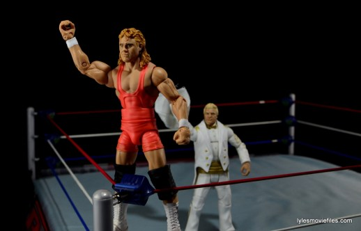 Mattel WWE Heenan Family set action figures review -Mr Perfect throwing towel