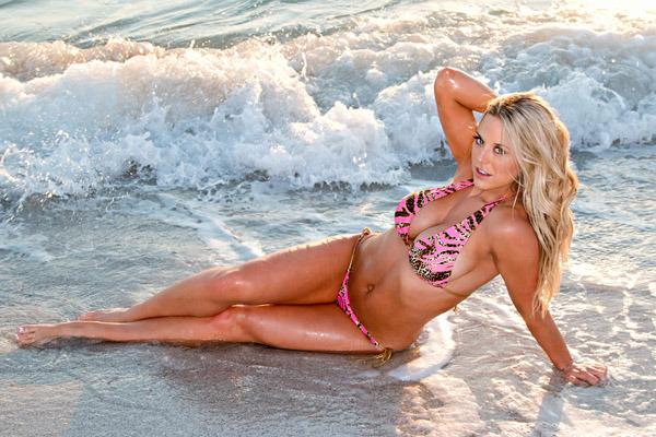 taryn-terrell-pink-black bikini