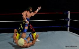 WWE Elite 38 Macho Man Randy Savage review -figure four on Flair