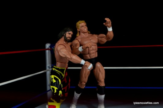 WWE Elite 38 Macho Man Randy Savage review -tossing Luger